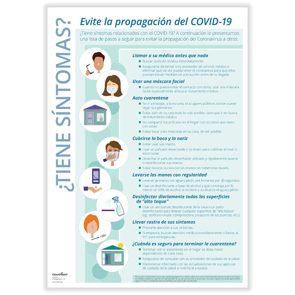 Picture of Spanish Downloadable Stop COVID-19 Transmission Poster