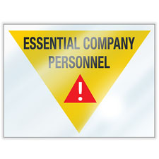 Essential Personnel Window Clings