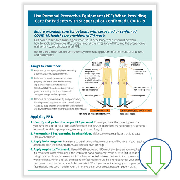 Picture of Downloadable How to Wear PPE for COVID-19 Poster