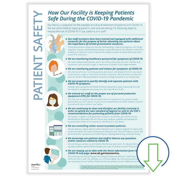 Downloadable Keeping Patients Safe Poster