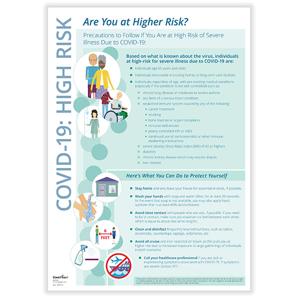 COVID-19 High Risk Poster