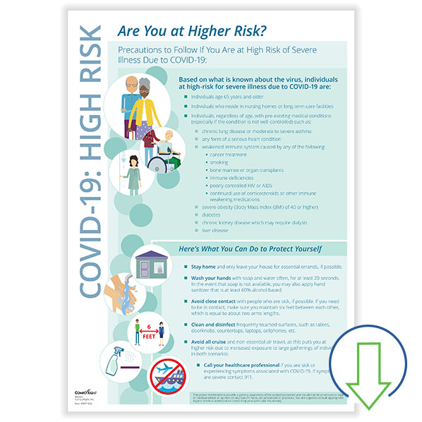 Downloadable COVID-19 High Risk Poster