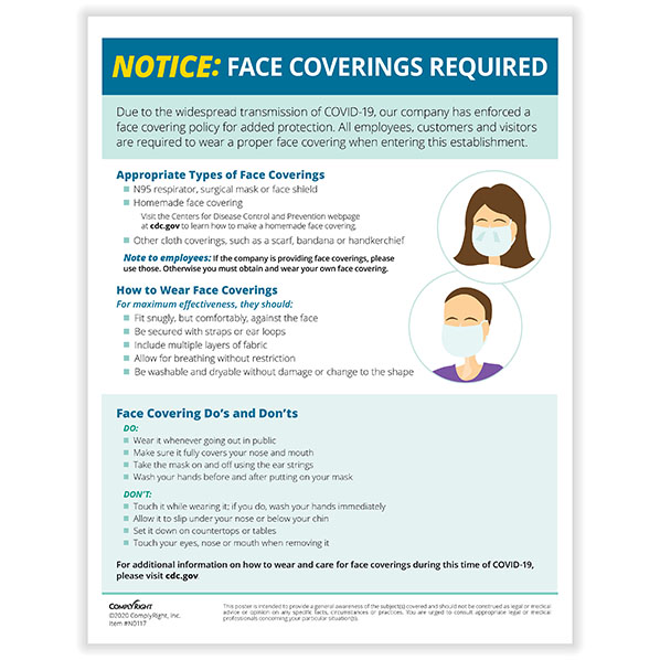 Face Coverings Required Notice