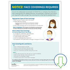 Download Face Coverings Required Notice