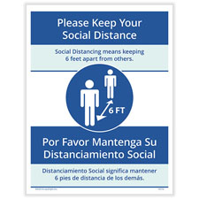 Bilingual Social Distancing Posting