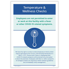 Picture of Temperature & Wellness Checks Poster