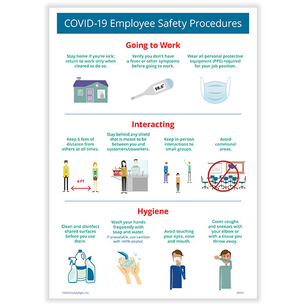 COVID-19 Employee Safety Procedures Poster