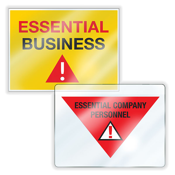 Essential Business Clings