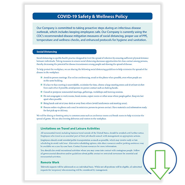 Downloadable COVID-19 Safety and Wellness Policy