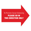 One-Way Social Distancing Floor Decal