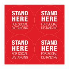 """Stand Here"" Social Distancing Floor Decals"
