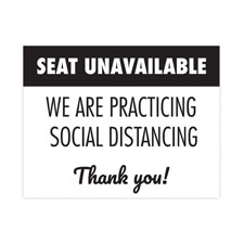"""Seat Unavailable"" Social Distancing Seat Decals"