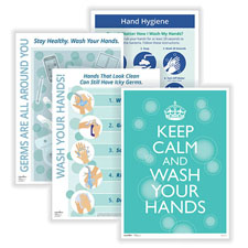 Properly Wash Your Hands Posters