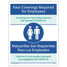 Bilingual Face Coverings Required for Employees