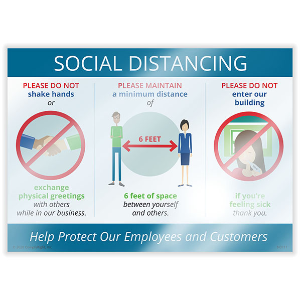 Social Distance Window Cling