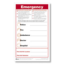 Emergency Numbers Safety Poster And Pen Set