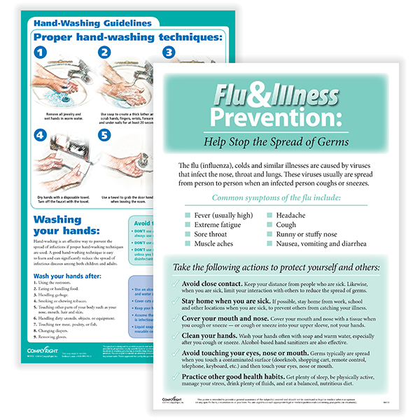 Flu & Illness Prevention Poster Set