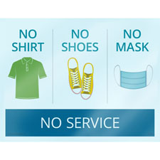 No Mask No Service Cling