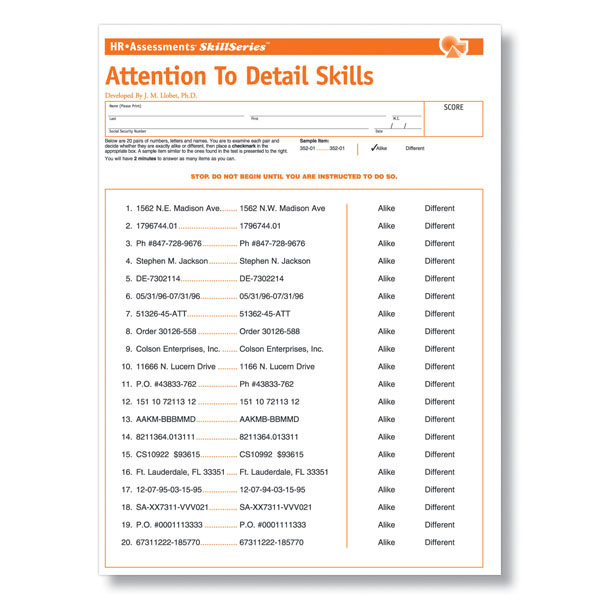 graphic relating to Printable Attention to Detail Test named Interest in direction of Point Attempt