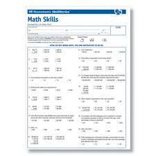 Workplace Math Skills Online Test