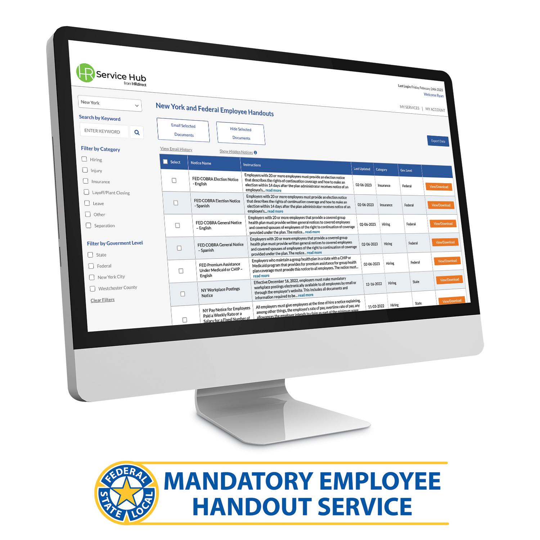 Premium Mandatory Employee Handout Service