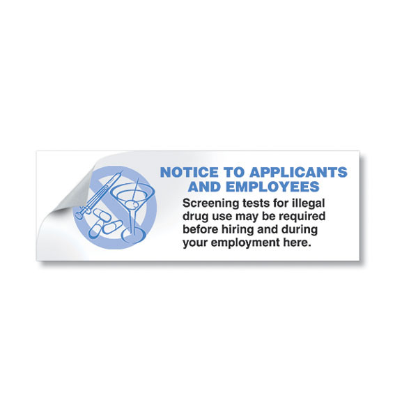 Drug-Free Job Application Stickers