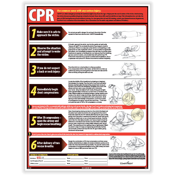 Picture of Lifesaving CPR Poster