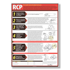 Complyright Lifesaving CPR Poster Spanish