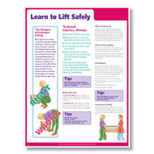 Lifting Safely at Work Poster 2