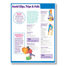 Slips, Trips & Falls Safety Poster