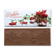Santa Boots Milk Chocolate Bar