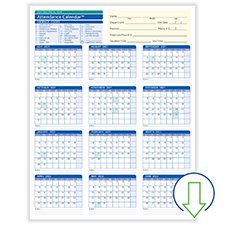 Downloadable Fiscal Year Employee Attendance Calendar