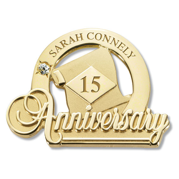 Commemorative Anniversary Pin Diamond