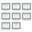 Picture of Personalized Navy and Cream Award Certificates