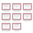 Picture of Personalized Burgundy Award Certificates