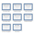 Picture of Personalized Navy and White Award Certificates