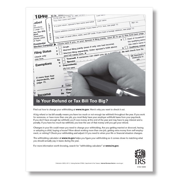 Picture of Federal W-4 Poster