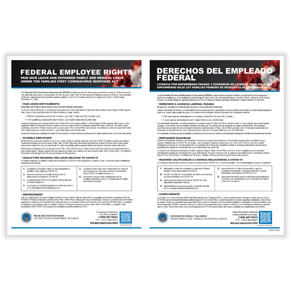 Picture of Families First Coronavirus Response Act (FFCRA) Poster