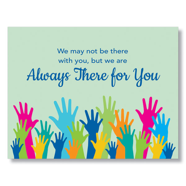 Supportive Hands Greeting Card