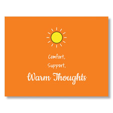 Warm Thoughts Greeting Card