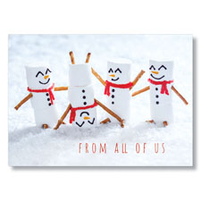 Picture of Marshmallow Snowmen Holiday Card