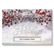 Holiday Garland of Berries Holiday Card