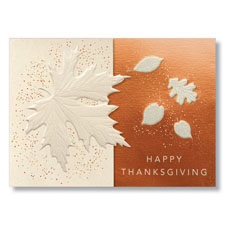 Thanksgiving Leaves Holiday Card