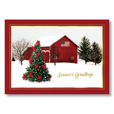 Country Snow Scene Holiday Card