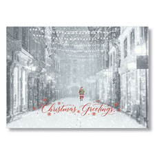 Picture of Santa and Store Fronts