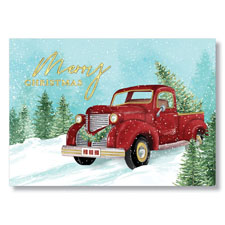 Christmas Tree Delivery Holiday Card