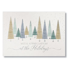 Modern Holiday Trees Holiday Card