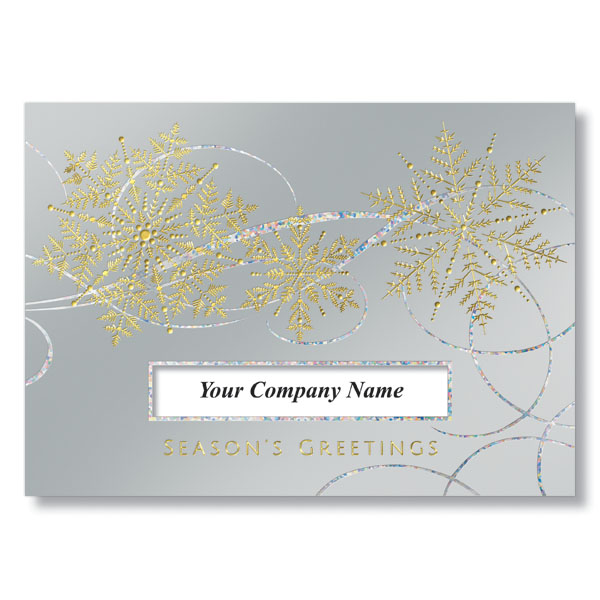Snowflakes in the Wind Holiday Card