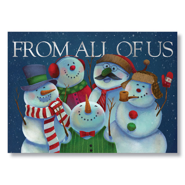 Picture of Bunch of Snowmen Holiday Card