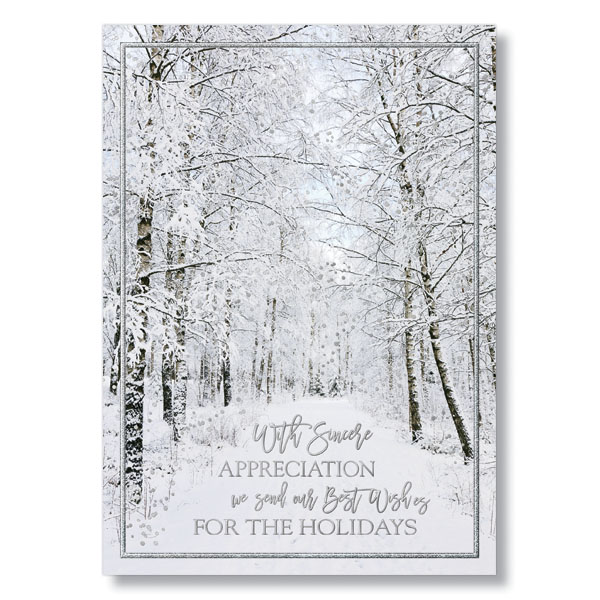 Picture of Frosted Appreciation Holiday Card